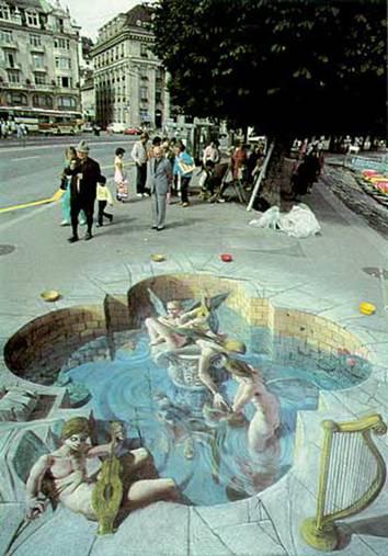arte urbana em 3d