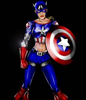 e se fosse capitã america?
