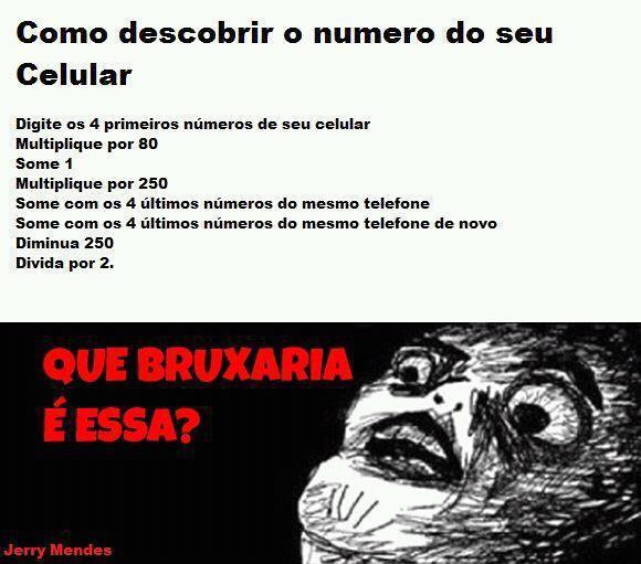 saiba como descobri o numero do seu celular com matemática