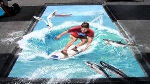 400 × 225 surfista em 3d